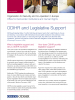 Front cover of a factsheet on ODIHR's work in legislative support (OSCE)