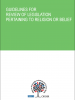 "Front cover of the ""Guidelines for Review of Legislation Pertaining to Religion or Belief"" (OSCE)"