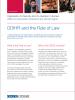 Front cover of a factsheet explaining the work of the OSCE/ODIHR in assisting OSCE participating States in living up to their rule of law commitments. (OSCE)