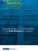 """Cover page for """"Representation of Communities in the Civil Service in Kosovo"""" (OSCE)"""