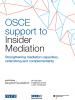 Cover: OSCE Support to Insider Mediation (OSCE)