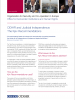 Front cover of the factsheet on ODIHR and Judicial Independence: The Kyiv Recommendations (OSCE)