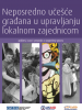 Cover of the publication on Direct Citizens' participation in the local self-government management. The publication is available in Serbian only. (OSCE)