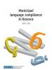 "Cover of ""Municipal language compliance in Kosovo"" report (OSCE)"