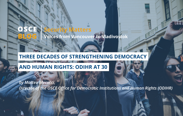 This year, ODIHR marks 30 years since its establishment. Read ODIHR Director Matteo Mecacci's reflections on old and new challenges faced by the Office to protect human rights and democracy in the region.
