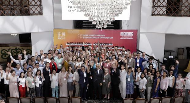 During the conference, journalists and representatives from the media and NGOs, together with international experts and state representatives from the region discussed issues and challenges arising in the context of new media technologies in Central Asia.