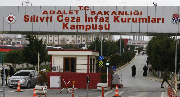 Entrance of the Silivri prison complex pictured near Istanbul, Turkey, where several media workers sentenced on 7 March 2018 remain imprisoned. 