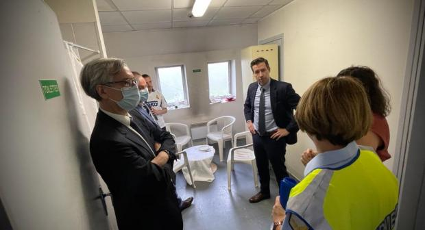 OSCE Special Representative for Combating Trafficking in Human Beings Valiant Richey visiting a facility used for training by Central Office for Combating Illegal Employment (OCLTI) in Arcueil, France, 30 June 2021. (OSCE)