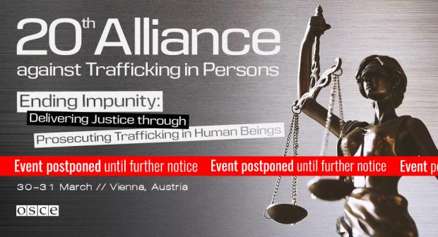 The 20th Alliance against Trafficking in Persons Conference will take place in Vienna on 30-31 March 2020.