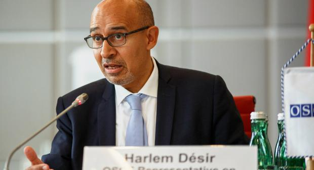 Harlem Désir, OSCE Representative on Freedom of the Media , speaking at the opening of the Internet Freedom Conference, 13 October 2017, Vienna.  (OSCE)