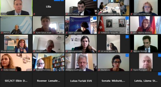 National Anti-human trafficking Rapporteurs and Co-ordinators from across the OSCE region held online their annual meeting, focusing on challenges posed by the COVID-19 pandemic to anti-trafficking responses.