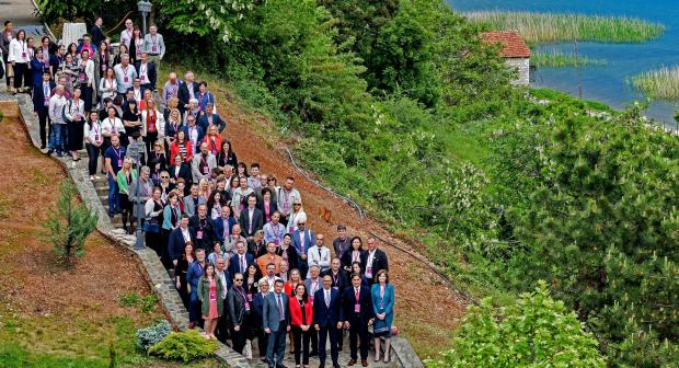 Participants of the OSCE South East Europe Media Conference, Struga, 11 May 2018. (Tomislav Georgiev)