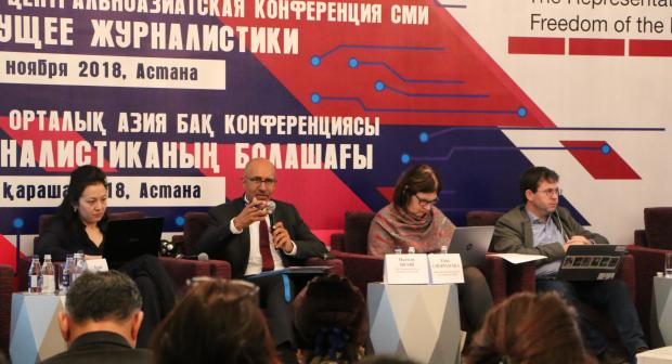 OSCE Representative on Freedom of the Media Harlem Désir at the Central Asia Media Conference in Astana, Kazakhstan, 8 November 2018. (OSCE)